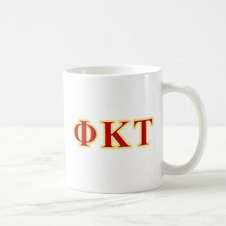 Phi Kappa Tau Yellow and Red Letters Coffee Mug