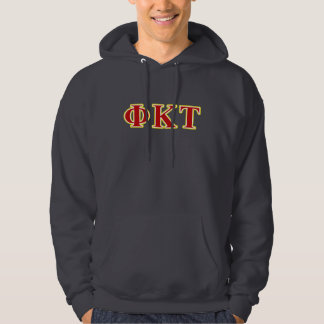 Phi Kappa Tau Yellow and Red Letters Hoodie
