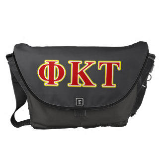 Phi Kappa Tau Yellow and Red Letters Courier Bags