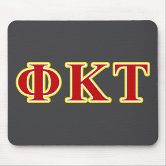 Phi Kappa Tau Yellow and Red Letters Mouse Pad