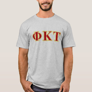 Phi Kappa Tau Yellow and Red Letters T-Shirt