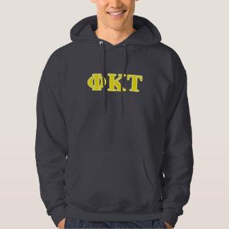 Phi Kappa Tau Yellow Letters Hoodie