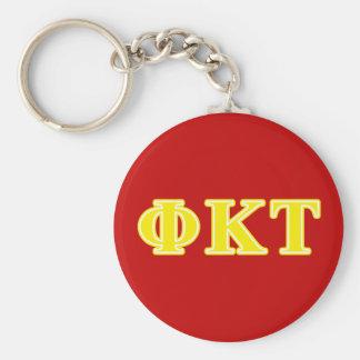 Phi Kappa Tau Yellow Letters Key Ring
