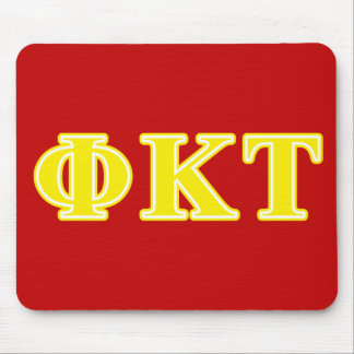 Phi Kappa Tau Yellow Letters Mouse Pad