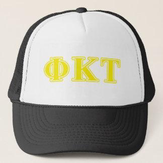 Phi Kappa Tau Yellow Letters Trucker Hat