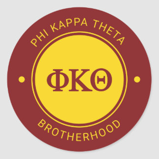 Phi Kappa Theta | Badge Classic Round Sticker
