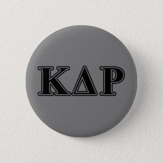 Phi Kappa Theta Black Letters 6 Cm Round Badge