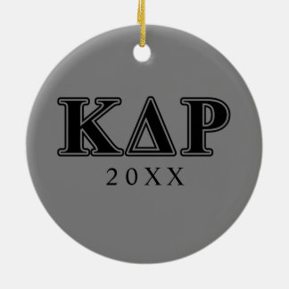 Phi Kappa Theta Black Letters Christmas Ornament