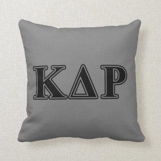 Phi Kappa Theta Black Letters Cushion