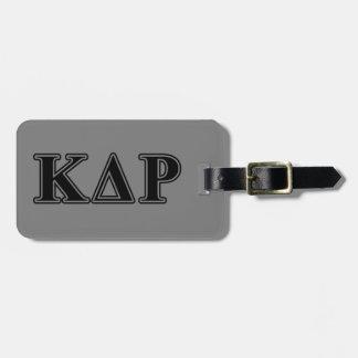 Phi Kappa Theta Black Letters Luggage Tag