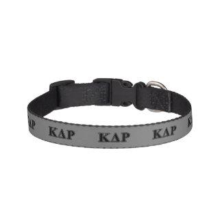 Phi Kappa Theta Black Letters Pet Collar