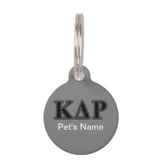 Phi Kappa Theta Black Letters Pet Name Tag