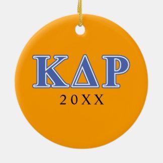 Phi Kappa Theta Blue Letters Christmas Ornament