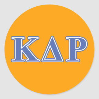 Phi Kappa Theta Blue Letters Classic Round Sticker
