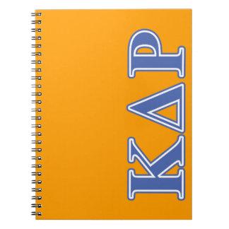 Phi Kappa Theta Blue Letters Notebook