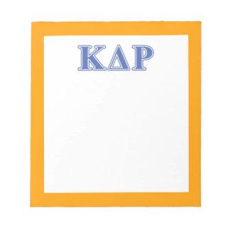 Phi Kappa Theta Blue Letters Notepad