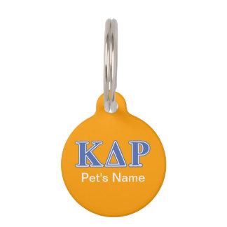 Phi Kappa Theta Blue Letters Pet ID Tag