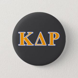Phi Kappa Theta Orange and Blue Letters 6 Cm Round Badge