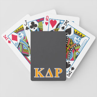 Phi Kappa Theta Orange and Blue Letters Bicycle Playing Cards
