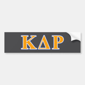 Phi Kappa Theta Orange and Blue Letters Bumper Sticker