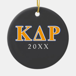 Phi Kappa Theta Orange and Blue Letters Christmas Ornament