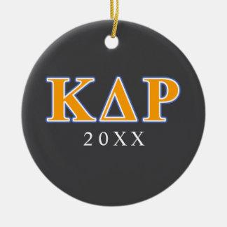 Phi Kappa Theta Orange and Blue Letters Christmas Ornament