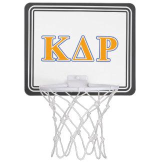 Phi Kappa Theta Orange and Blue Letters Mini Basketball Hoop