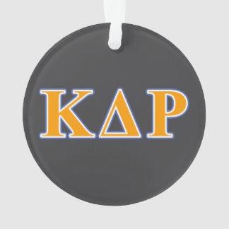 Phi Kappa Theta Orange and Blue Letters Ornament