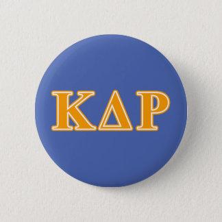 Phi Kappa Theta Orange Letters 6 Cm Round Badge