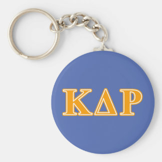 Phi Kappa Theta Orange Letters Basic Round Button Key Ring