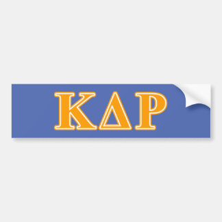 Phi Kappa Theta Orange Letters Bumper Sticker