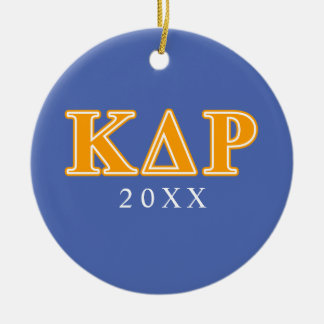 Phi Kappa Theta Orange Letters Christmas Ornament