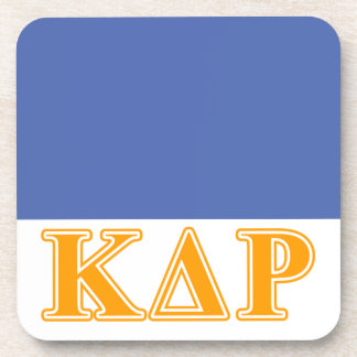 Phi Kappa Theta Orange Letters Coaster