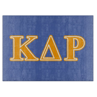 Phi Kappa Theta Orange Letters Cutting Board