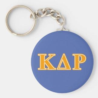 Phi Kappa Theta Orange Letters Key Ring