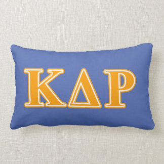 Phi Kappa Theta Orange Letters Lumbar Cushion