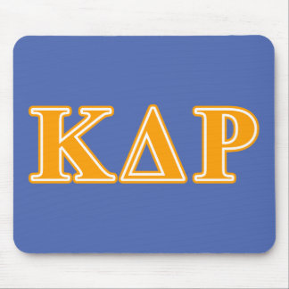 Phi Kappa Theta Orange Letters Mouse Pad