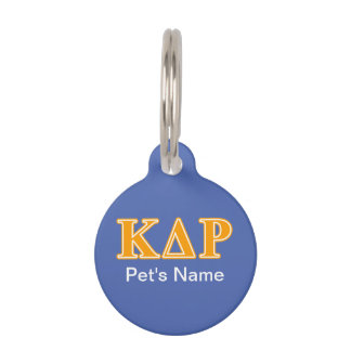 Phi Kappa Theta Orange Letters Pet ID Tag