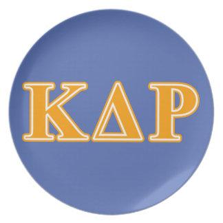 Phi Kappa Theta Orange Letters Plate