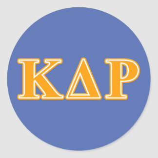 Phi Kappa Theta Orange Letters Round Sticker