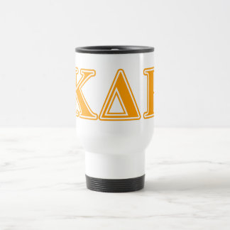 Phi Kappa Theta Orange Letters Travel Mug