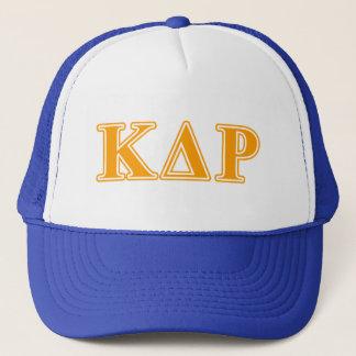 Phi Kappa Theta Orange Letters Trucker Hat
