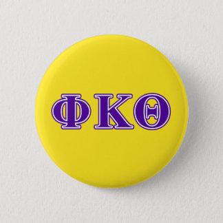 Phi Kappa Theta Purple Letters 6 Cm Round Badge