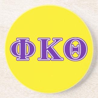 Phi Kappa Theta Purple Letters Beverage Coaster