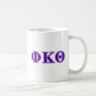 Phi Kappa Theta Purple Letters Coffee Mug
