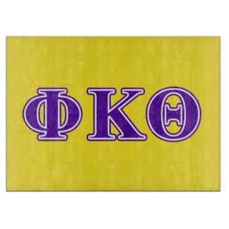 Phi Kappa Theta Purple Letters Cutting Board