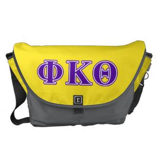 Phi Kappa Theta Purple Letters Courier Bag