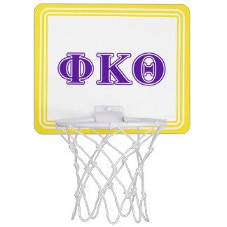 Phi Kappa Theta Purple Letters Mini Basketball Hoop