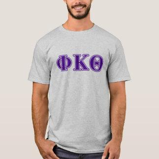 Phi Kappa Theta Purple Letters T-Shirt