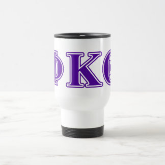 Phi Kappa Theta Purple Letters Travel Mug